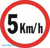 Biển báo giao thông 5KM/H