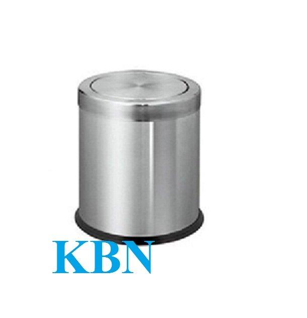 THÙNG RÁC INOX TRÒN NẮP BẬP BÊNH KL-52A